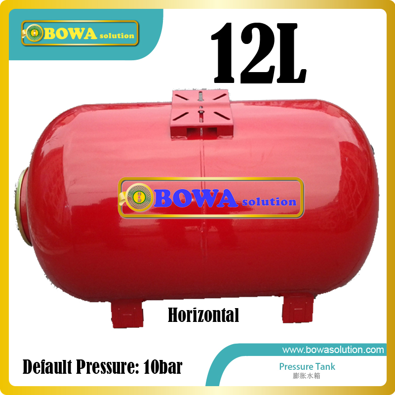 12L carbon steel Horizontal pressure tank suitable for 10KW heat pump water heater or 3-in-1 heat pump equipments 14kw r407c heat pump water heater heat exchangers including b3 050 18 as condenser and b3 050 30 as evaporator