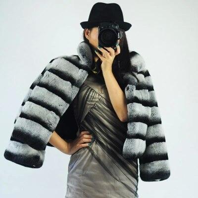 Campionati europei Alta moda collare del basamento Reale cappotti di  pelliccia giacche autunno e inverno peluche Rex Coniglio Cincillà Cappotti  di Pelliccia 15a72ddc3cf