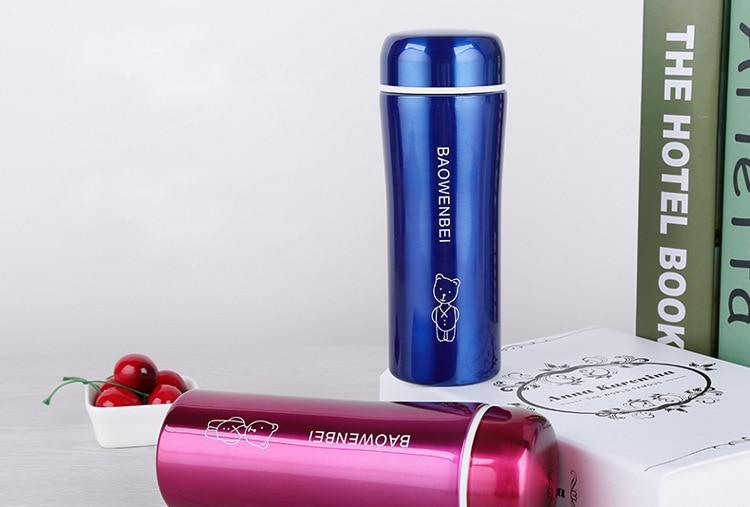 300mL Travel Mug Tea Coffee Water Bottle Stainless Steel, Insulation Cup steel warm water bottle heat pot outdoor