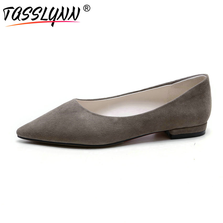 Carré Faible Pompes 34 Suede Kid Solide Casual On Bout Taille Pointu Tasslynn Slip 2018 Talons Femmes Chaussures rose 42 Concise Gris 1TwqFPZE