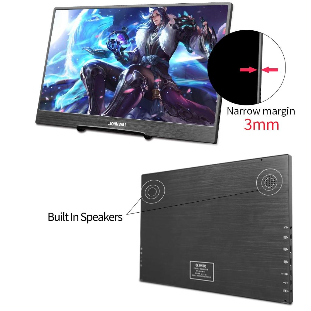4K Monitor 13,3 inch Tragbare LCD mit Handy Schlanke HDMI/DP/Kopfhörer für Mac/PC /Smartphone/PS4