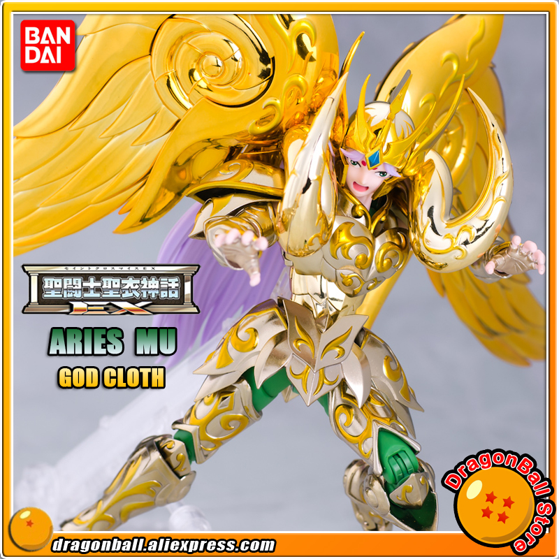 Japan Anime Saint Seiya Original BANDAI Tamashii Nations Saint Cloth Myth EX Soul of Gold Action Figure - Aries MU GOD CLOTH