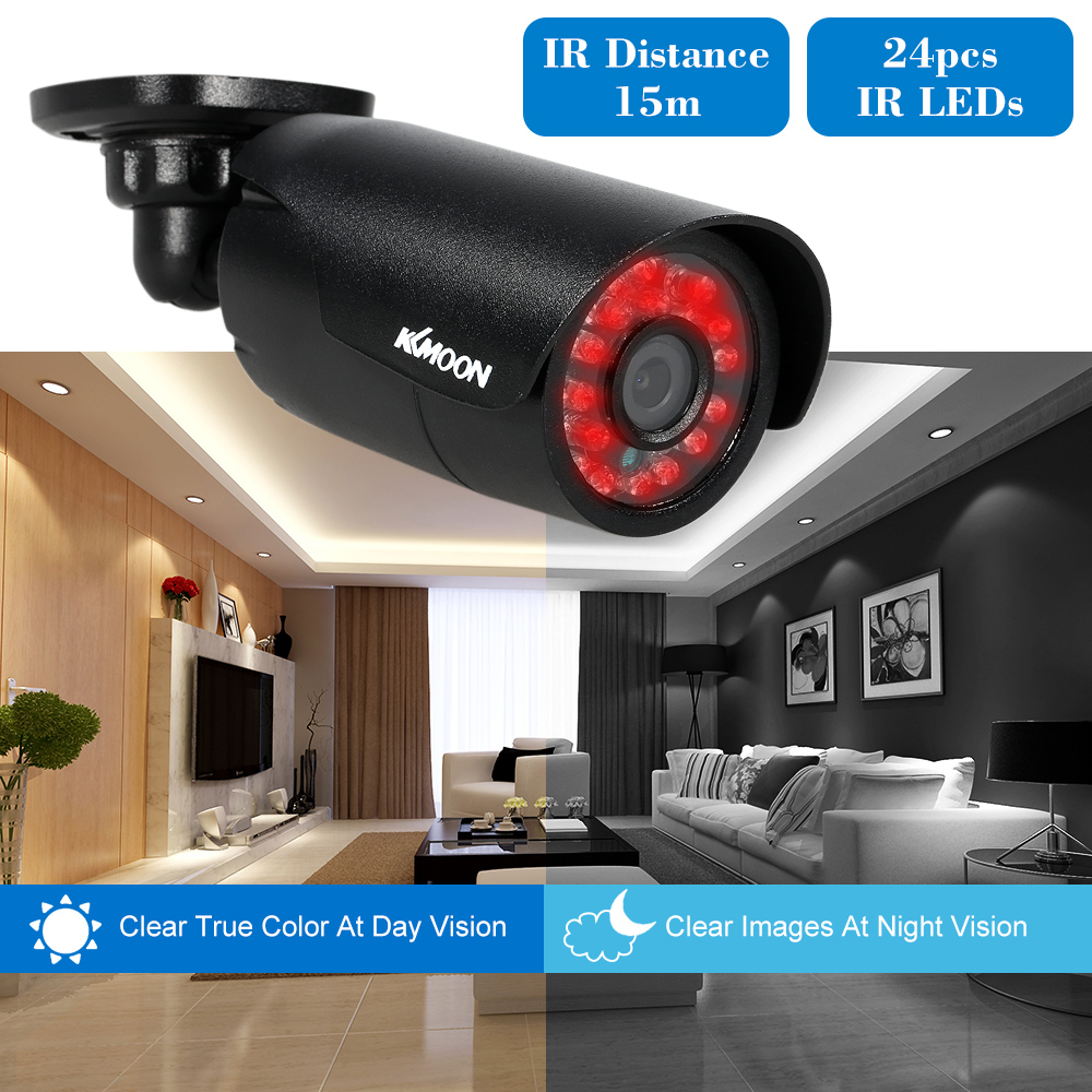 Buy Night Vision Security Camera A Truly Outdoor Ir With Day Honeywell H4d3prv3 Kkmoon 4ch 960h D1 Dvr 800tvl System Waterproof 4pcs Surveillance Cctv Kit In From