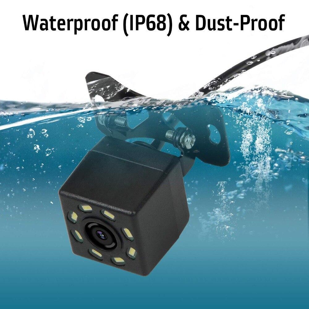 YuanTing Универсальная автомобильная камера заднего вида с углом обзора 170 градусов 8 авто светодиодный фонарь ночного видения водонепроницаемый для автомобиля
