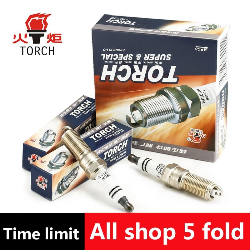 4pcs/lot China original TORCH Iridium Platinum spark plugs QH6RTI-13 for FORD GRAND C-MAX/KUGA II/MONDEO IV/S-MAX,etc.
