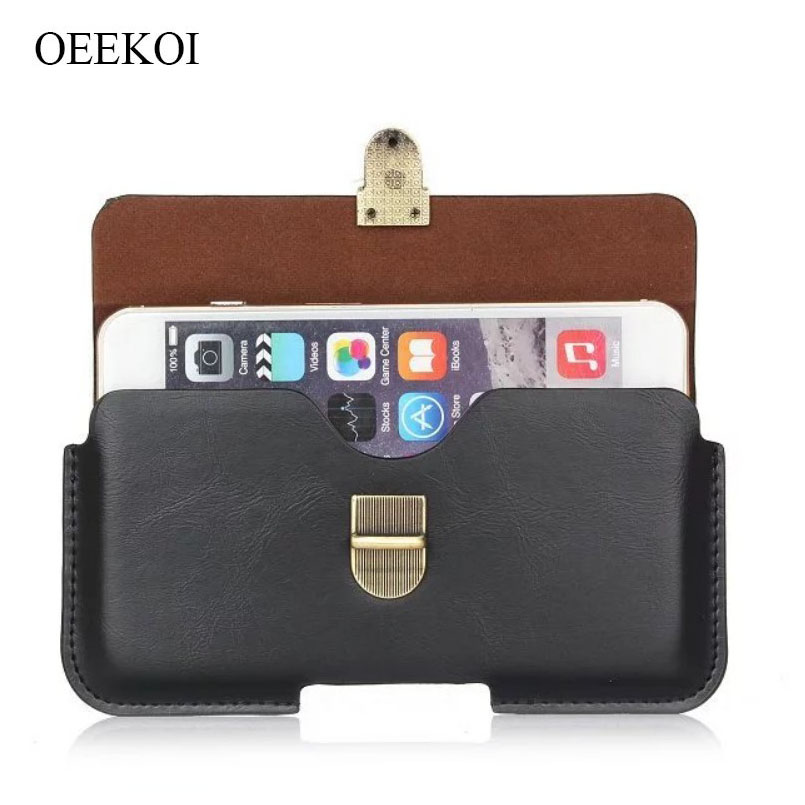 OEEKOI PU Leather Belt Clip Pouch Cover Case for <font><b>DNS</b></font> S5009/S5002/<font><b>S5008</b></font>/S5004/S5001/S5003/S5005 5 Inch image