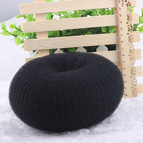 3Pcs Black Womens Magic Blonde Donut Hair Ring Bun Former Shaper Hair Styler Maker Tool ...
