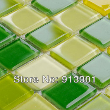 Glass Tile Square 1 Inch Mixed Green Yellow White Crystal Glass Mosaic Tiles Wholesale Kitchen Backsplash Tile Sheets Flooring Tile Sheet Kitchen Backsplashtiling Kitchen Backsplash Aliexpress