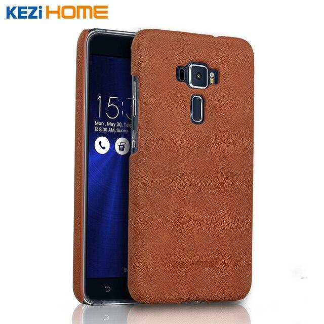 asus zenfone 3 ze520kl case kezihome frosted genuine leather hard back cover capa for asus. Black Bedroom Furniture Sets. Home Design Ideas