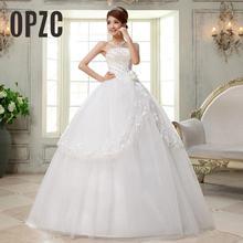 Дешевое Настоящее фото, Новое поступление, корейский стиль, свадебное платье с кристаллами, белое свадебное платье, Vestido de noiva QH27