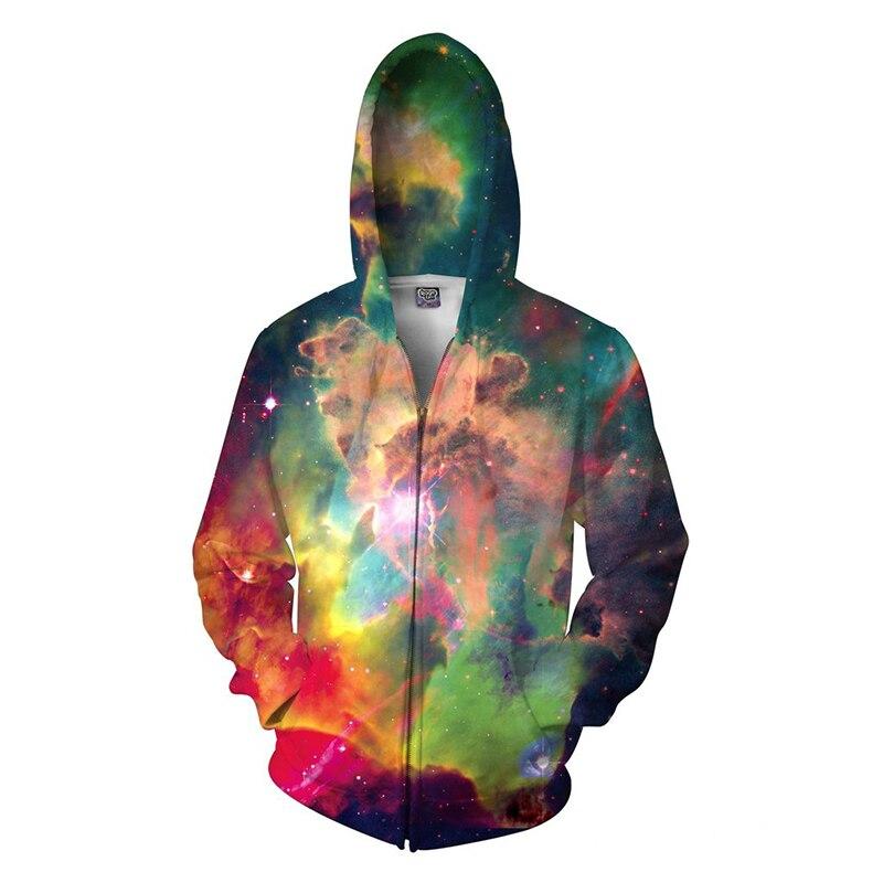 New Galaxy 3D печати толстовки Мода карман дворец балахон Для мужчин Красочные Harajuku толстовки Moleton Feminino Для женщин Bape топ, футболка