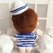Korea Kpop EXO BaekHyun with Navy Clothes 22cm/9″ Plush Toy Stuffed Doll Handmade Fans Support Gift Collection