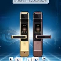 Newest Top Grade Iris Recognition Smart Lock Password Key Unlock Iris Accuracy Unlocking Door Bell Door Camera PIR Induction