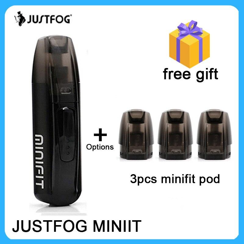 Bigsale Original justbrouillard minifit Kit 370mAh tout en un batterie pod vape kit 1.5ml e-jus capacité compacte pod