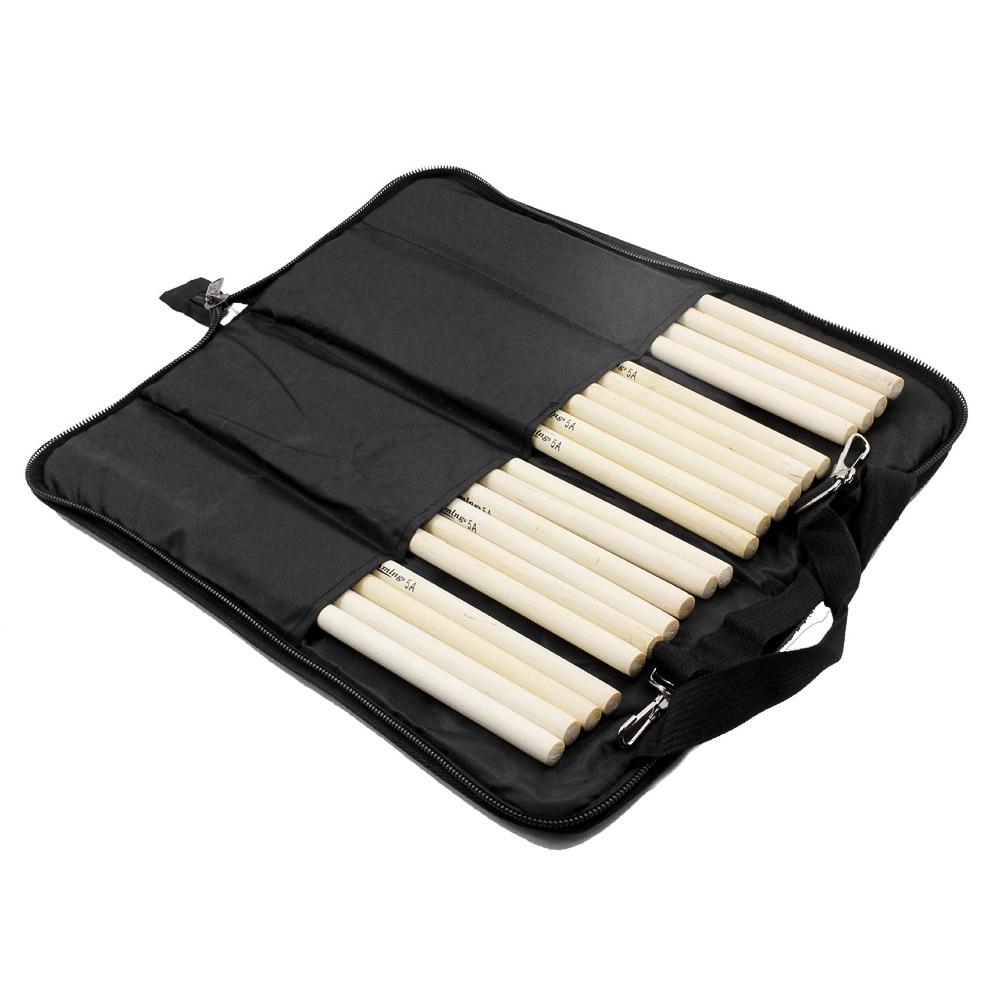 600D Drum Sticks Gig Bag Oxford Cloth Drumstick Bag Handy Strap Gripped Handle Pocket 5mm Cotton Padded Water-resistant