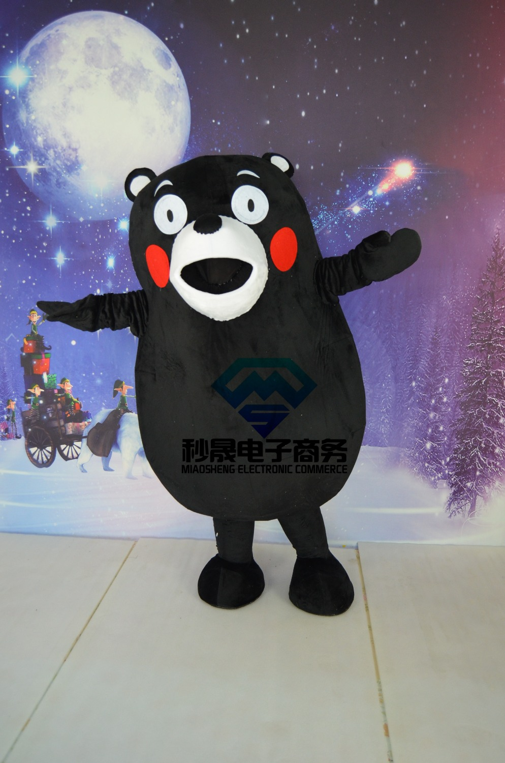 Costumes de bande dessinée mascotte ours noir animation adulte vêtements en peluche