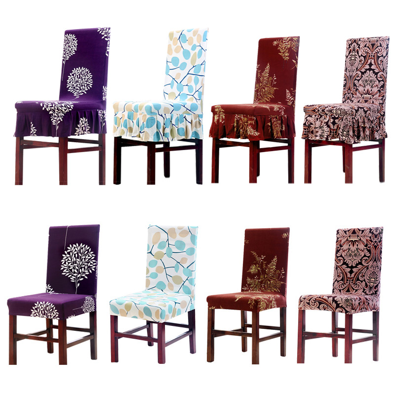 Groovy Flower Printing Ruffled Chair Cover Modern Banquet Weddings Folding Stretch Anti Dirty Dining Chair Cover Home Decor 1 Pc In Chair Cover From Home Short Links Chair Design For Home Short Linksinfo