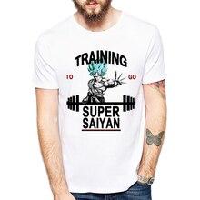Super saiyan Goku&Trunks Printing Tees 2017 Men's Fashion Japan Anime Dragon Ball Z T Shirt Saiyan shirt Hipster Hot Tops