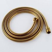 Высокое качество Роскошный Золотой шланг для душа золото Водостоки душ замены трубки 1.5 м