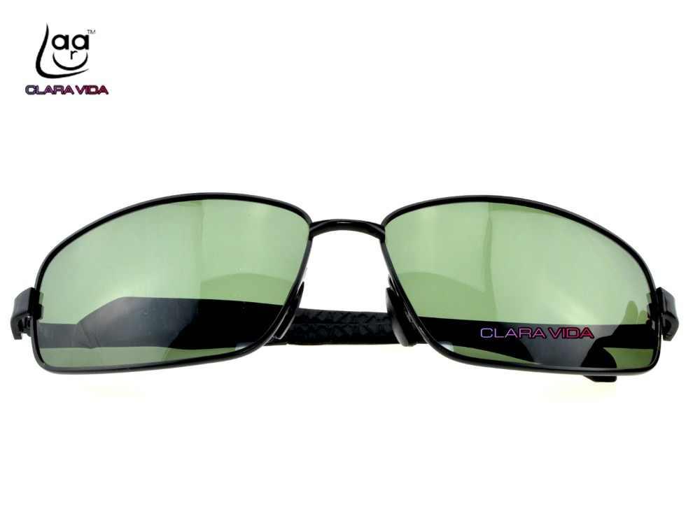 516da117d72 ...  CLARA VIDA Polarized Reading Sunglasses Large black dark green MYOPIA  Polarized customized Sunglasses -