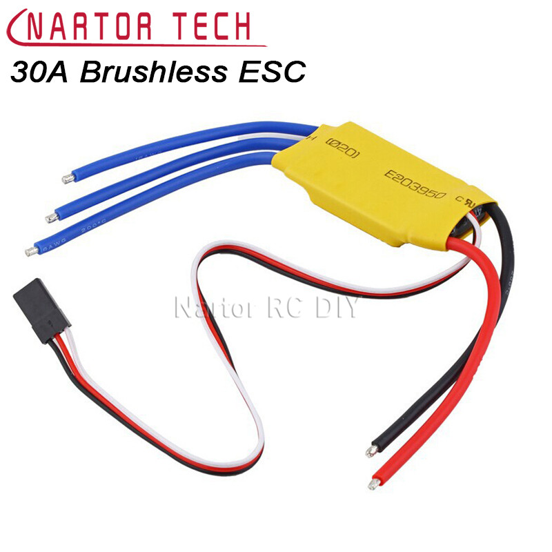 XXD 30A Brushless ESC for Brushless Motor Electronic Governor Airplane Quadcopter good cool cool running quicrun150a 1 10 car brushless no sense of electric tuning electronic governor wp8bl150 waterproof