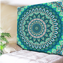 Turquoise Green Psychedelic Wall Hanging Indian Mandala Hippie Tapestry Bohemian Tapestries Beach Towel Throw Blanket Picnic