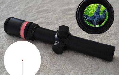 New 1.5-6x24 Fibre Optic Scope Red Green Green Triangle illuminated Rifle Scope For Huntting