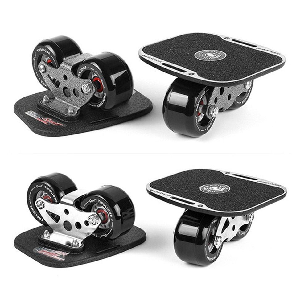Dérive Board classique en alliage d'aluminium pour Freeline Roller route dérive patins antidérapant Skateboard Deck Freeline Skate Wakeboard K006