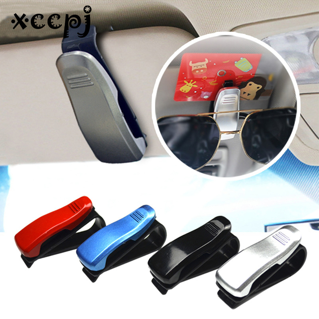 Car Sunglasses Holder Sun Visor Clip For Eyeglasses & Ticket Card Fastener Clamp Car Glasses Case Accessories Diverse Colors