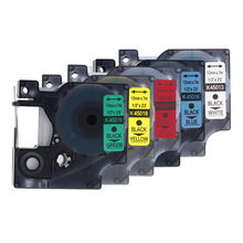 Kodex 5PACK 12mm mixed color laminated label tape for Dymo D1 tape 45013, 45016, 45017, 45018, 45019 printer ribbon