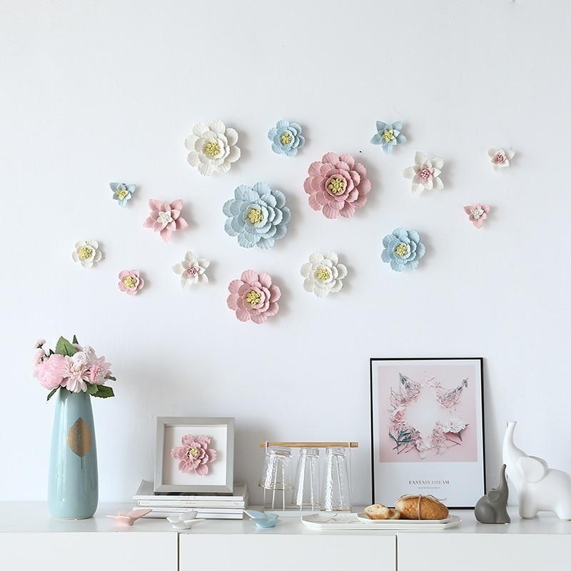 Ceramic Rose Flower Wall Decoration