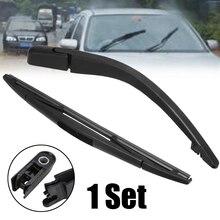 1set Black Rear Windshield Wiper Arm Blade Set Universsal For Peugeot 107 Citroen C1 Toyota Aygo