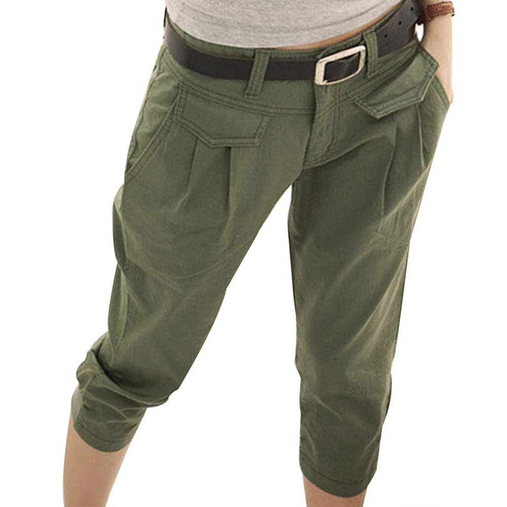 CALOFE New 2020 Women Harem Pants Casual Cropped Trousers Harem Pant Women Summer Fashion Overall Students Black Pants