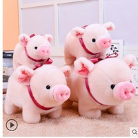 Free shipping Simulation pig toy pig tie pig baby doll zodiac year gift