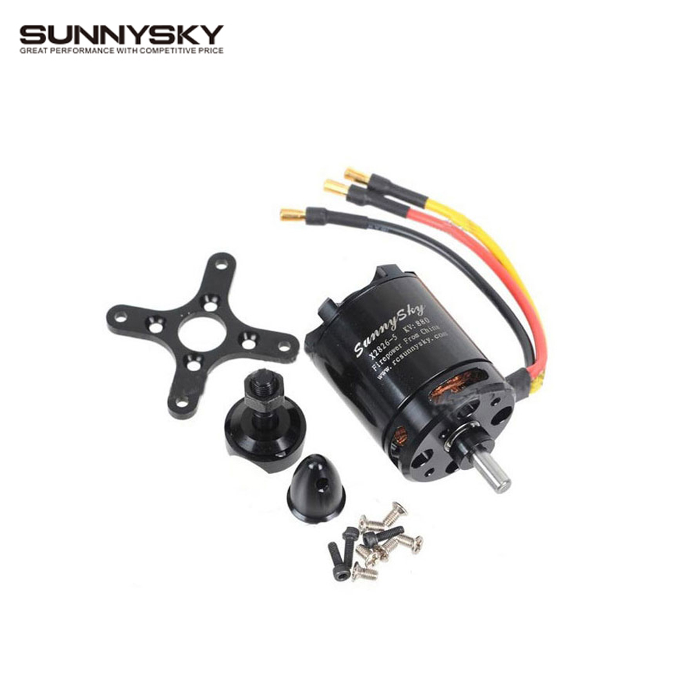 1 pcs Original SunnySky X2826 550KV 740KV 880KV 1080KV Outrunner External Rotor Brushless Motor for RC Helicopter x team xto 2212 850kv forward outrunner brushless motor for helicopter silver