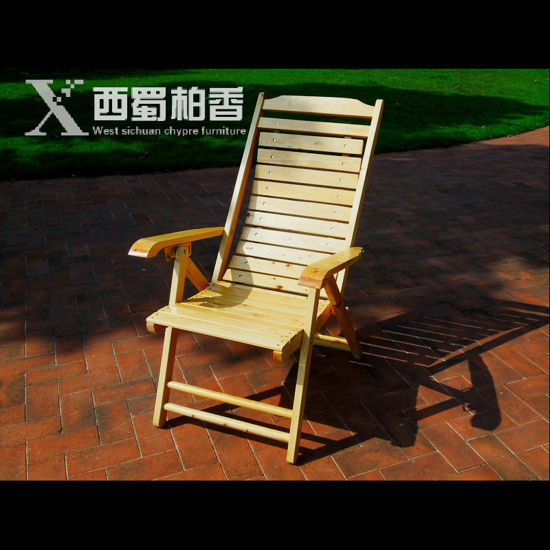 Eco-friendly cedarwood Outdoor Sun Loungers folding deck chair sling chair Beach lounge Recliner 2014 antique outdoor furniture lounge rattan winchester sun loungers with coffee table