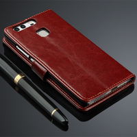 Luxury Wallet Leather Cases For Huawei P9 Cover Flip Coque Shockproof Magnetic Cover For Huawei P9