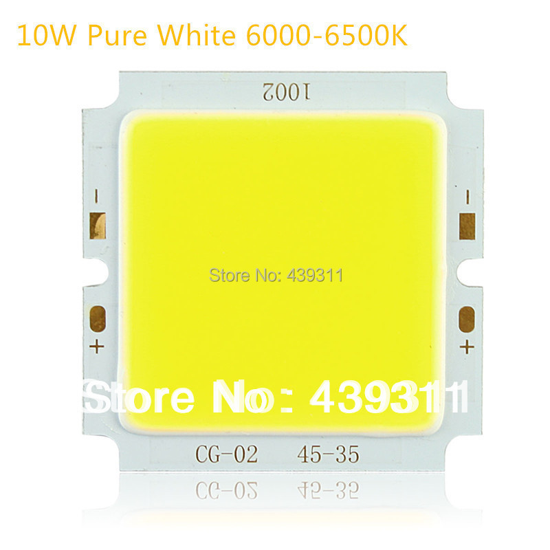 10W COB CHIP LED Warm White 3000-3200K Pure White 6000-6500K Surface Light Source 300mA 29-36V 850-950LM Chip Free Shipping 5PCS