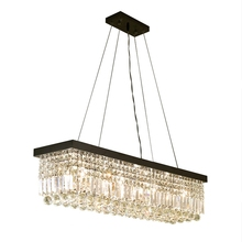 Modern minimalist rectangular crystal chandelier lighting LED Lustre Lamps for Bedroom Living Room chandeliers Lamps fixture modern minimalist golden led circular living room crystal lamp creative lamps atmospheric luxury hall ceiling lighting fixture