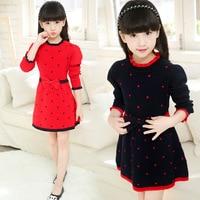 Casual Girl Dress Autumn Winter Girl Dresses Next Casual Children Clothing Baby Dresses Long Sleeve Kids