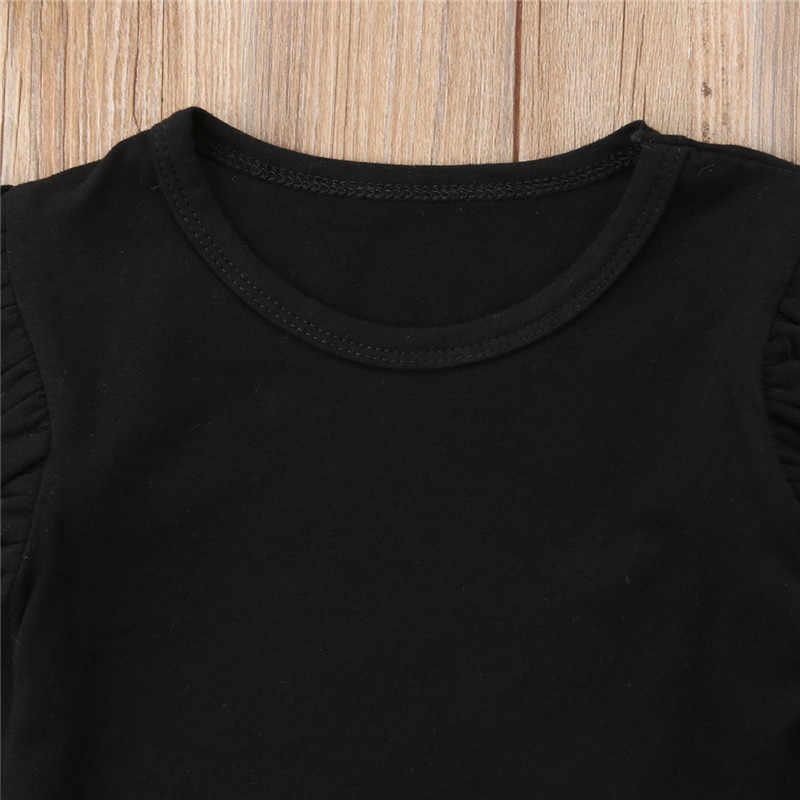 PUDCOCO Nieuwste Mode Peuter Meisje Katoenen Lange Mouwen casual T-shirts Tops Ruche Tee Herfst Outfit 1-5 T