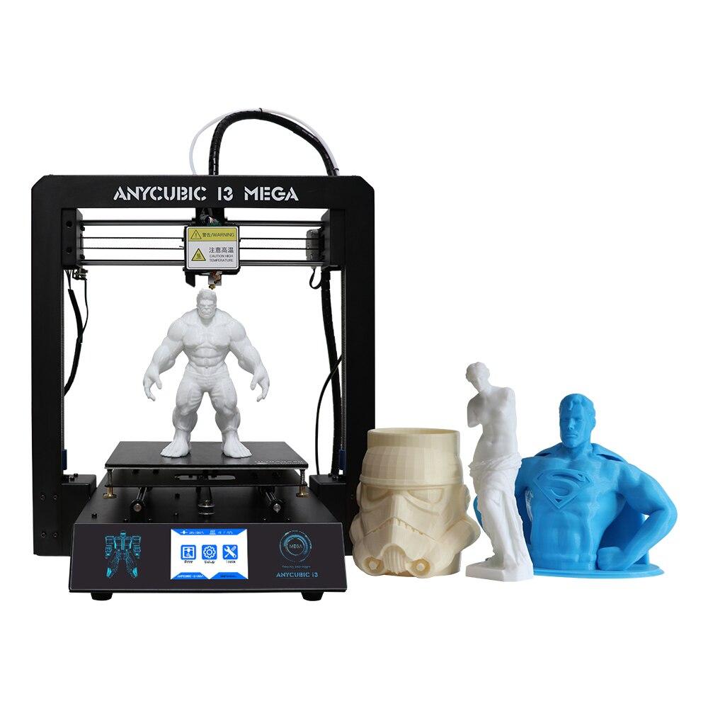 Anycubic 3D принтер I3 Мега большой печати Размеры металлический Рамки решетки платформа DIY Kit 1 кг нити и 8 г SD карты в качестве подарка RU