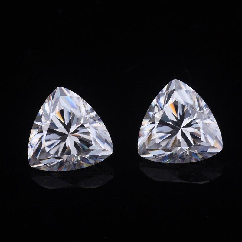 (2 Stücke) Ein Paar Ef Farbe 6*6mm Trillions Cut Moissanites Steine Edelsteine Perlen Diamant Für Schmuck Machen