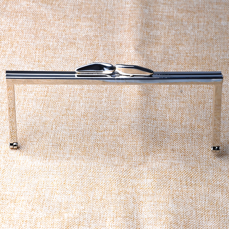 6 3/4 inches Open Channel Metal Purse Frame in Silver colour