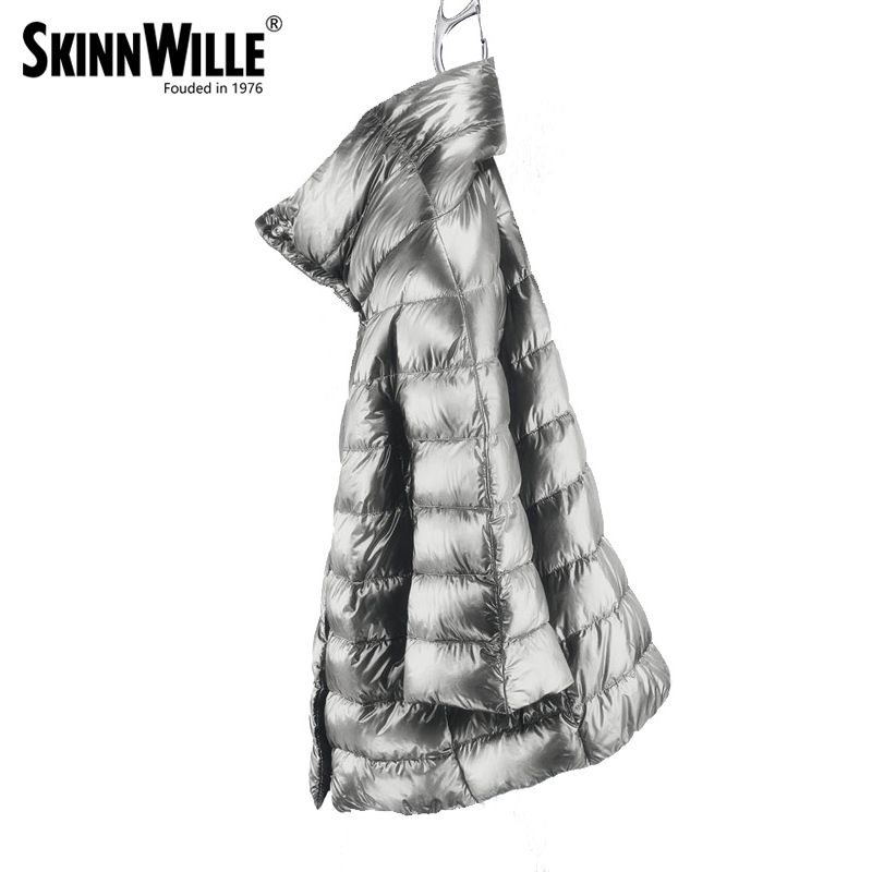 skinnwille High quality of villmergen medium long thickening down coat luxury female 2018 outerwear