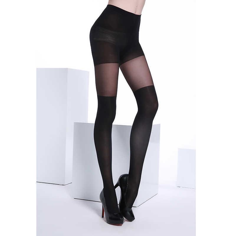 bd59dec03 ... 40 Denier Ultra Sheer Summer Black Fashion and Sexy Woman Patchwork  Jacquard Core-spun Silk ...
