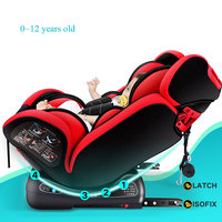 Baby Child Car Safety Seat ISOfix Latch Connection Five point Harness Booster Seats Kids Portable Car Chair Safety Seat 0~12Y