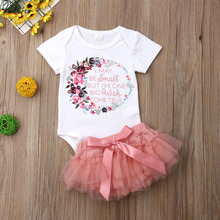 Outfit Clothes-Sets Skirt Bodysuit Baby-Girl Newborn Kids Summer Romper 0-18-Months Floral