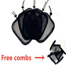 5pc/lot Wig Caps For Making Ponytail Black Color High Quality Hair Net for Make Ponytail beautiful woman hair Tool(China)