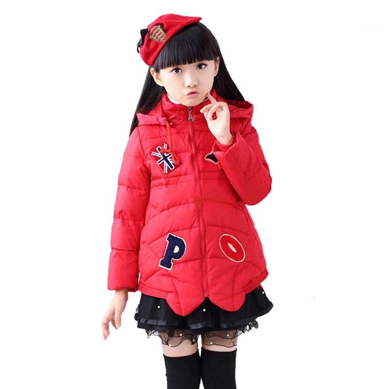 2016 Yüksek Kalite Kızlar Kış Aşağı Ceket Kız Kabanlar & Palto Aşağı Ceket Kız Sıcak Parkas XY65